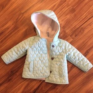Jacket fleece lined quilted mint color 12-18M